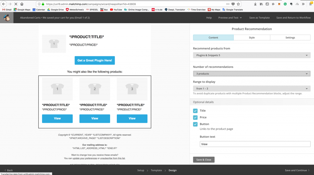 EDD Mailchimp Abandoned Cart WordPress Plugin