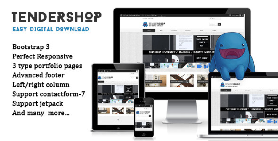 TenderShop Easy Digital Downloads Theme