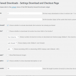 EDD Recently Viewed Downloads Main Settings