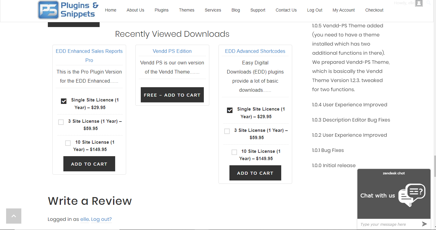 EDD Recently Viewed Downloads disabling the downloads image