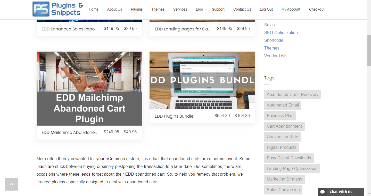Sample Download Category Page using EDD Landing Pages for Category and Tags Plugin 1