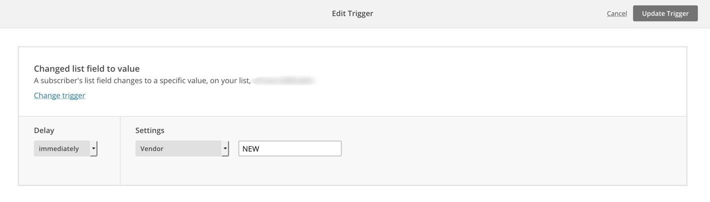 MailChimp - Update trigger