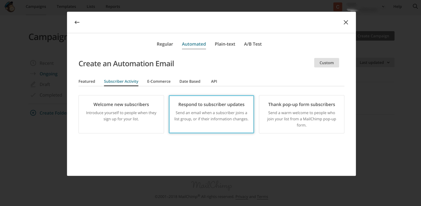 MailChimp - Respond to Subscriber Updates