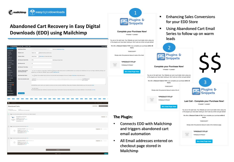 Easy Digital Downloads Mailchimp Abandoned Carts