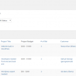 Freelancer Marketplace Project List at Backend